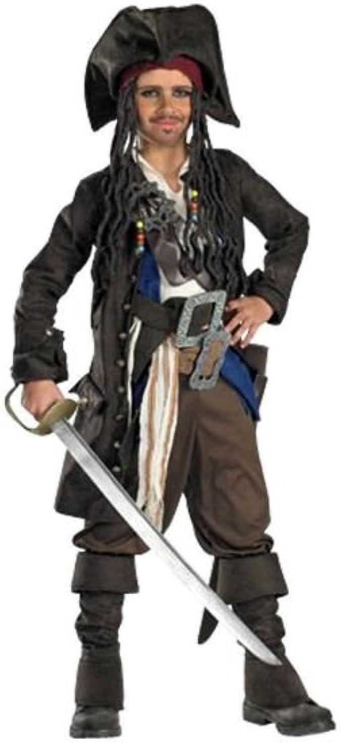 Jack Sparrow Premium Prestige Piratas del Caribe Boy disfraz de ...