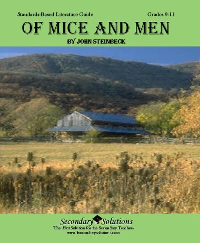Of Mice and Men Teacher Guide - Literature Unit for Teaching Of Mice and Men - John Steinbeck