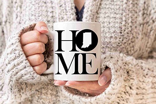 Indiana Mug State Mug Coffee Mug Home Mug Homesick Gift Personalized Mug Custom Mug No Place Like Home State Mug Gift Valentines Day - Drinkware Personalized Custom