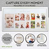 Baby's First Year Frame in Elegant White Natural