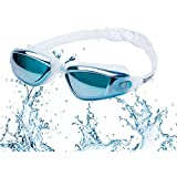 ROTERDON Swimming Goggles Glasses Goggle Anti Fog UV Protection No Leaking and Mirrored Professional for Adults Mens Womens Chidrens Youth Junior Kids in Racing from Swim Store (Lake Blue)