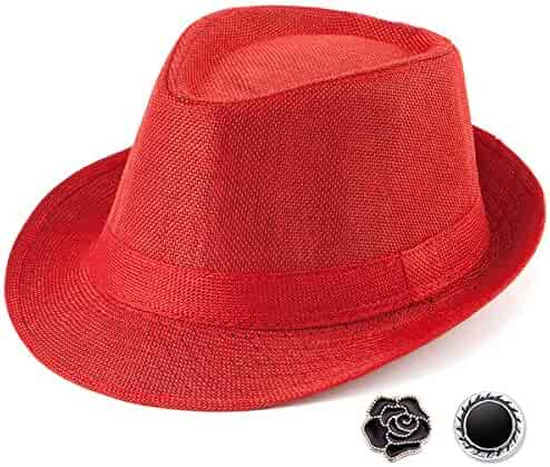 d2d28824c9 Shopping 1 Star & Up - Clear or Reds - Fedoras - Hats & Caps ...
