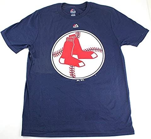 MLB Youth Cooperstown Official Logo Team T-Shirt (Youth Xlarge 18/20, Boston Red Sox)