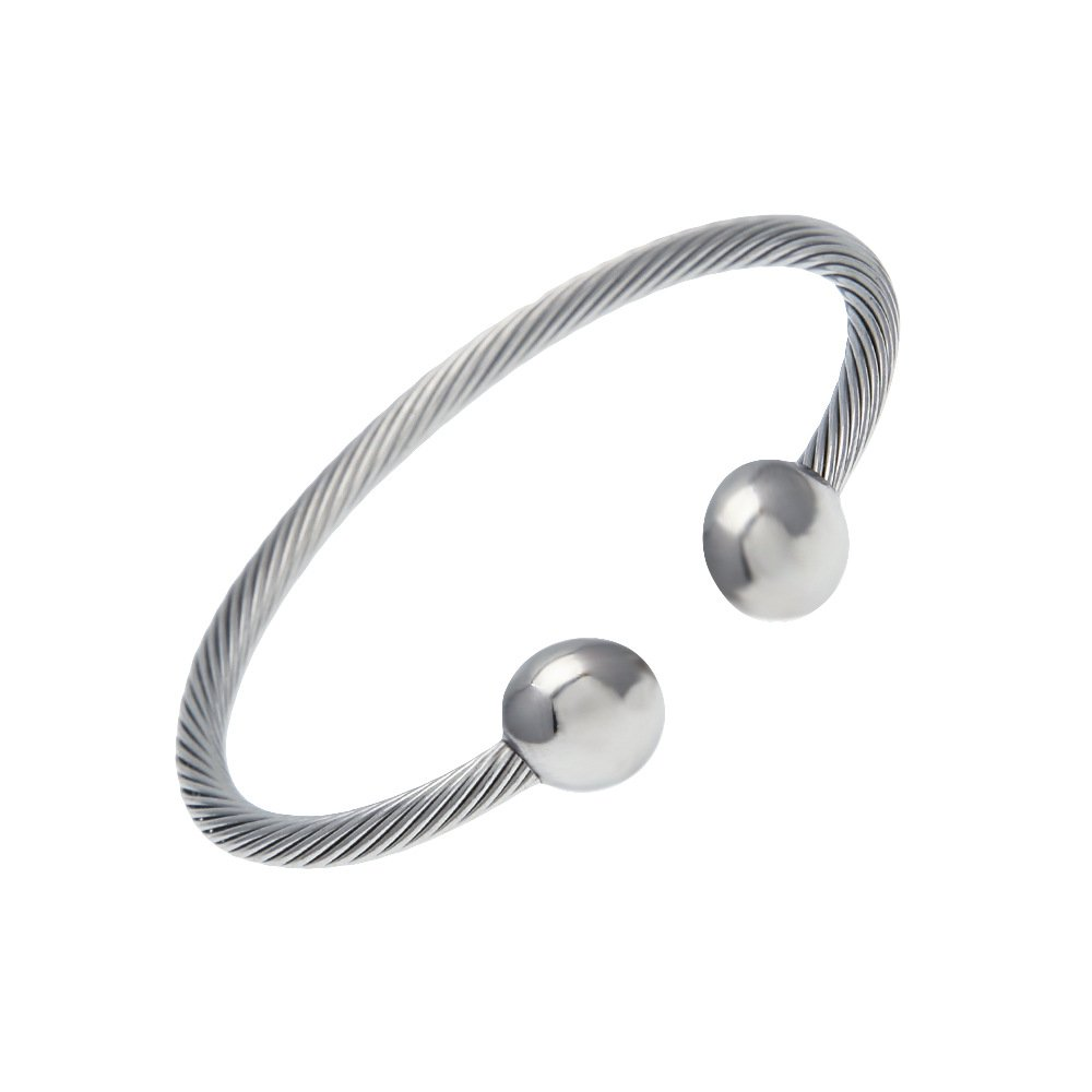 Magnetic Bracelet Stainless Steel High Power Pain Therapy Magnets Love Andara Love Andara-60
