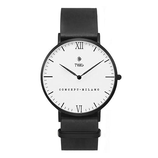 Reloj hombre/mujer TWIG CAMUS cuero vegan clásico vintage (Limeted/White)