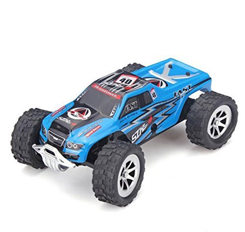 deektech Wltoys A999 1/24 Proportional High Speed RC Racing Car with Steering Proportion(BLUE).