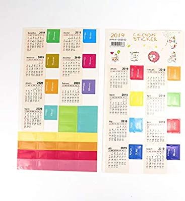 Amazon.com: JETEHO 8 Sets Calendar Stickers for Journal ...