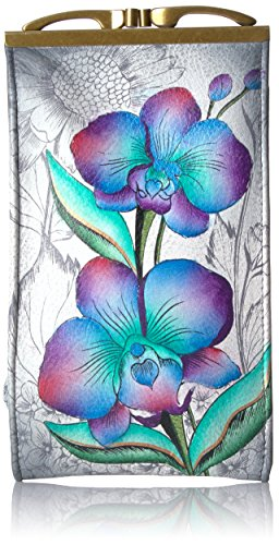 Anuschka Hand Painted Doulble Eyeglass Case Floral Fantasy, One (Floral Painted Glass)