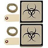 Biohazard Zombie Kraft Gift Boxes Set of 2