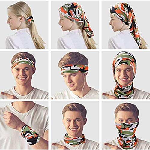 6 Pieces Sun UV Protection Face Mask Neck Gaiter Windproof Scarf Sunscreen Breathable Bandana Balaclava for Sport&Outdoor