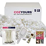 Best Soy Waxes - Cozyours Natural Soy Wax 5 Pound,122℉ melt Point Review