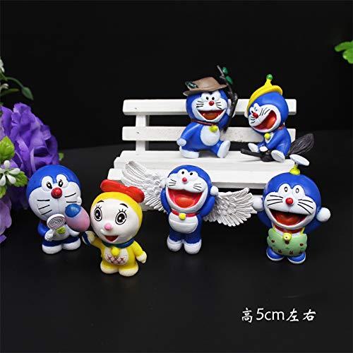 Machine Cat Blue Plug-In Cartoon Jingle Cat Theme Cat Cake Children Birthday Decoration Ornaments Insert Flag Card Jingle Cat Ornaments Set Of 6