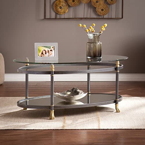 Southern Enterprises Allesandro Oval Coffee Table