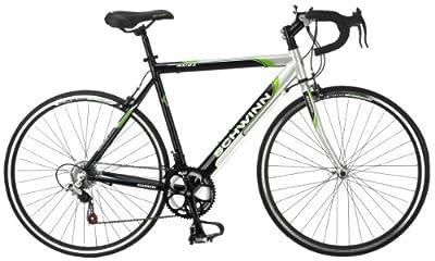Schwinn Men's Axios 700c Drop Bar Road Bicycle, Silver/Black/Green, 21.5-Inch Frame/55CM