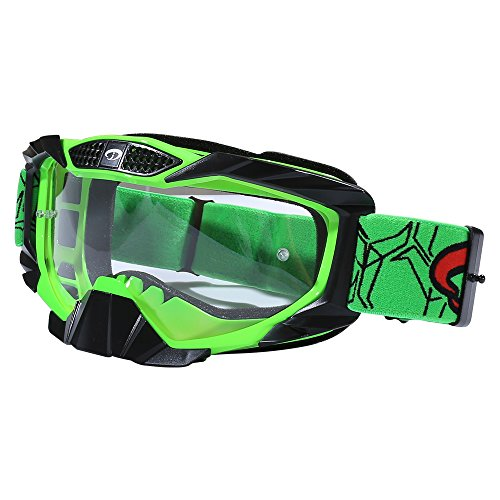 JIEPOLLY Motorcycle Goggles for Motocross Riding ATV Dirt Pit Bike Scooter Racing Goggles Helmet MX Goggles Clear Lens for Women Men Anti-wind - Scratched Lenses