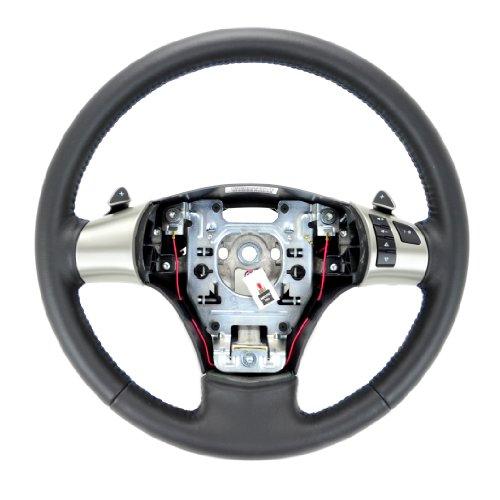 (2011 2012 Corvette C6 Steering Wheel Blue Stitch w/Paddle Shift)