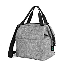 Insulated Lunch Bag Box, F40C4TMP Lunch Tote Cooler Bag Women, Men, Kids, Portable, Smooth YKK Zipper for Meal Prep, Office, School 9 Cans Grey (12L)