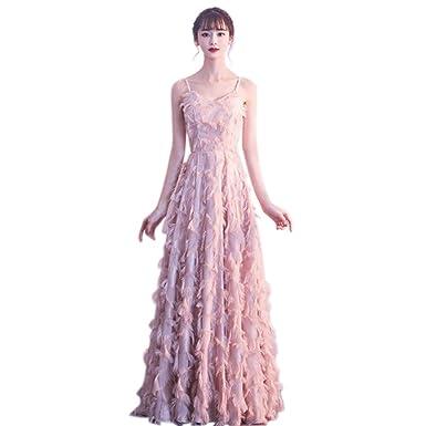 Amazon.com: QJKai Banquete Vestido de Noche Moda femenina ...