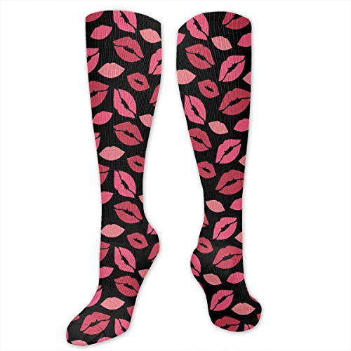 KISS ME Unisex Knee High Sports Athletic Socks 50 cm Polyester Tube Long Stockings White