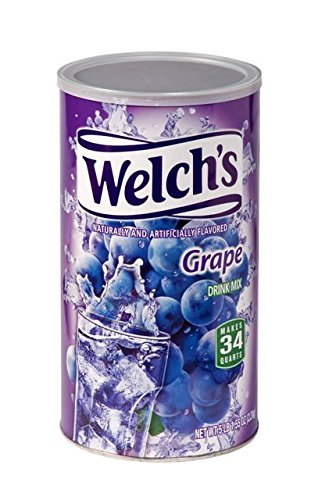 Drinks Grape Juice - Welch's Grape Drink Mix Water Powder Enhancer Canister, (5 Pound, Makes 34 Quarts)