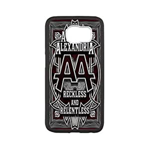 Unique Printing Skin Shell Asking Alexandria Pattern Phone Case for SamSung Galaxy s6,Silicone Mix Pastic Diy Cover Case s6-linda61