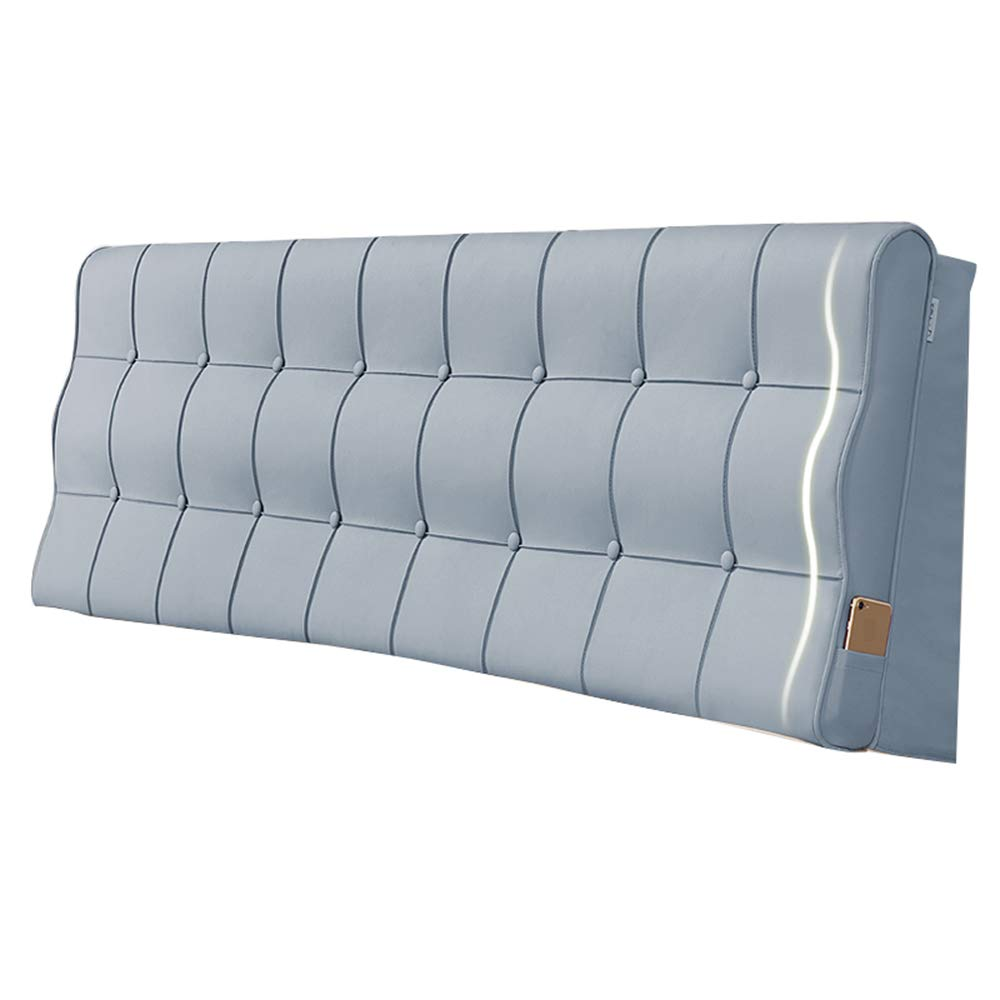 bluee 150×10×60CM Upholstered Headboard for Bed Wedge Head Board Cushion Pillow Backrest Artificial Leather Fabric Anti-Collision Easy to Clean