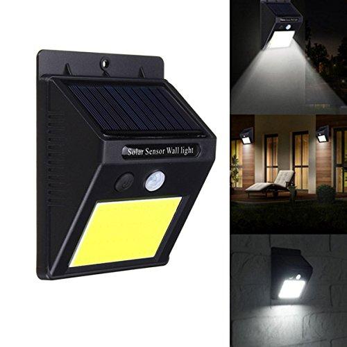 Solar Potencia 48 LED PIR Motion Sensor Aplique Impermeable al aire libre Jardín Lámpara