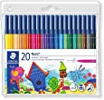 Staedtler Noris Club 326 WP20 Fibre Tip Pen in Wallet, Assorted Colours, Pack of 20