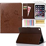 iPad Mini 4 Case,LittleMax Embossed Leather Butterfly&Flower Pure Color Series *Cards Holder* St