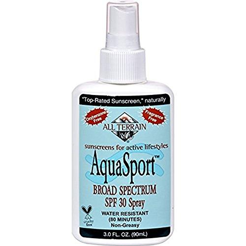 All Terrain AquaSport SPF 30 Spray - Sunscreen- Non Greasy - Fragrance Free - 3 fl oz (Pack of 2)