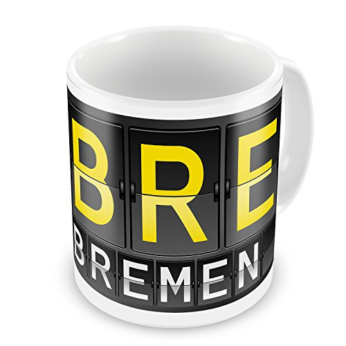 Bremen Port - Coffee Mug BRE Airport Code for Bremen - NEONBLOND