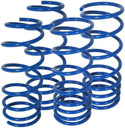 AJP Distributotrs For Lexus IS300 Altezza Suspension Racing Coil Drop Lower Lowering Sport Spring Kit Blue