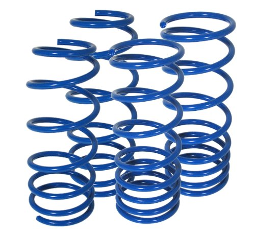 Volkswagen Golf Gti Jetta Mk4 Suspension Racing Coil Drop Lower Lowering Sport Spring Kit Blue