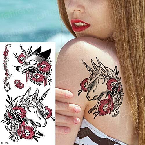 tzxdbh Etiqueta engomada del Tatuaje Temporal Tatuaje Falso ...