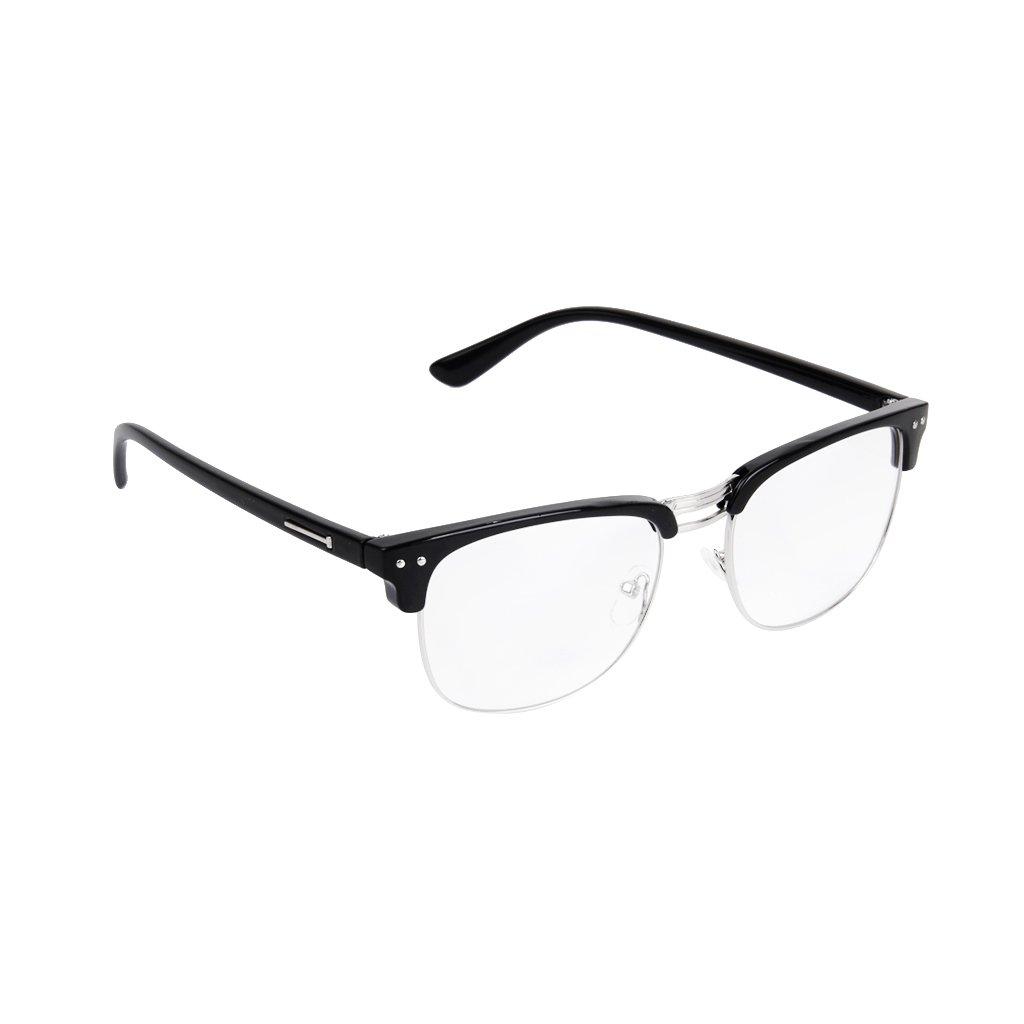 2018 Most Popular Half Frame Unisex Retro Plain Glasses Eyeglasses Generic