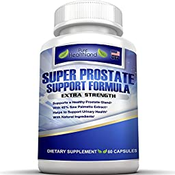 Natural Prostate Support Supplement Pills For Men.The Most Complete Formula Solutions With 33 Prostate Support Ingredients Including Saw Palmetto Vitamins Best For Prostate Care And Healthy Function!