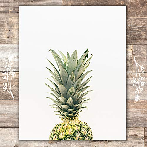Pineapple Wall Art Print - Unframed - 8x10 | Beach Wall Decor