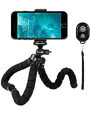 Rhodesy RT-02 Flexible Octopus Style Stativ-Halter mit Bluetooth-Fernbedienung für Kamera, jedes Smartphone mit Clip