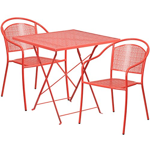 flash-furniture-28-square-coral-indoor-outdoor-steel-folding-patio-table-set-with-2-round-back-chair