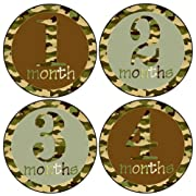 Mumsy Goose Baby Boy Month Stickers 1-12 Months Milestone Stickers Hunting Camo Boy Stickers