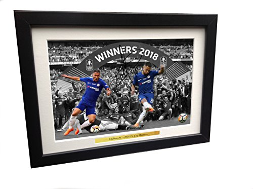 2018 FA Cup WINNERS CELEBRATION 12x8 A4 Signed Eden for sale  Delivered anywhere in USA