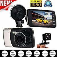 Coper 4 IPS HD 1080P Car Dual Lens Camera DVR Video Recorder Rear Dash Cam G-sensor