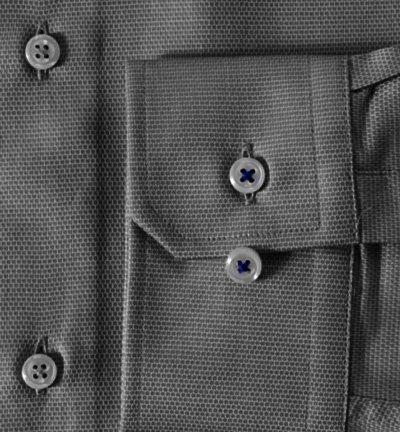 JOOP Herren Hemd Pierre1 Baumwolle Oberhemd Gemustert, Größe 40, Farbe Grau