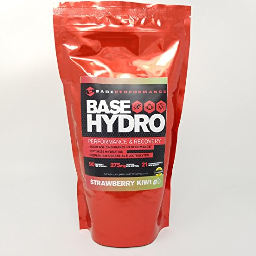 Base Performance Hydro – Strawberry Kiwi | 28 Servings Within Each eco-Friendly Mylar Bag | Blend of Dextrose, Fructose, maltodextrin and Essential Electrolytes. (Strawberry Kiwi)