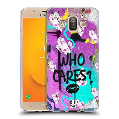 Head Case Designs Who Cares? Rad Watercolour Crystals Soft Gel Case for Samsung Galaxy J7 Duo (2018)