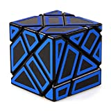 JIAAE 3X3 Allotype Rubik's Cube High Difficulty Intelligence Hollow Rubik Children Puzzle Toy,Blue