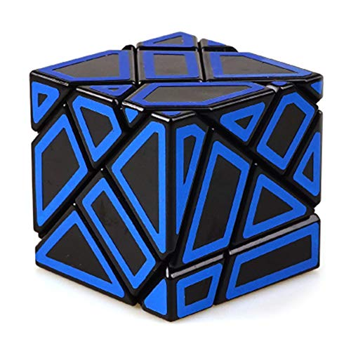 (JIAAE 3X3 Allotype Rubik's Cube High Difficulty Intelligence Hollow Rubik Children Puzzle Toy,Blue)