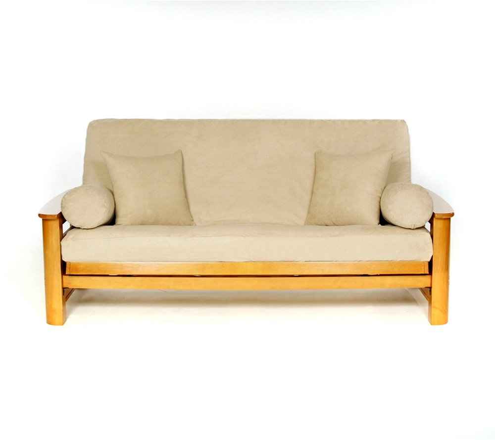lscovers SUSSEXSTONEF-OB Lifestyle Sussex Stone Full Futon Cover, Off/White