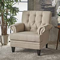 Christopher Knight Home 301433 Anthea Arm Chair, Wheat/Dark Brown