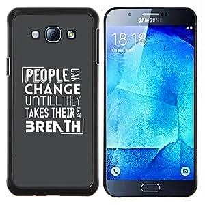 "Be-Star Único Patrón Plástico Duro Fundas Cover Cubre Hard Case Cover Para Samsung Galaxy A8 / SM-A800 ( Gente Cambio Mensaje"" )"